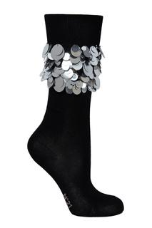 Черные носки с блестящей отделкой No.21