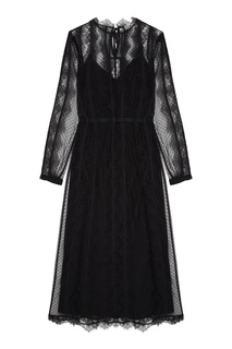 Черное платье из гипюра Laroom