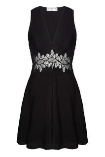 Черное платье с ажурной вставкой Elena Sandro