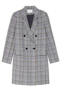 Двубортное клетчатое пальто Gabon Claudie Pierlot