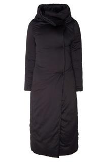Объемное черное пальто Herno