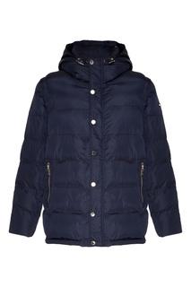 Синяя стеганая куртка с капюшоном Papermint