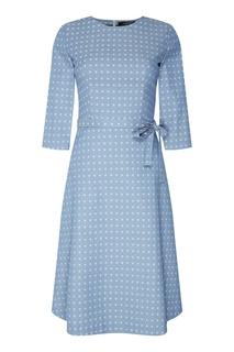 Платье миди с тканым узором Freshblood
