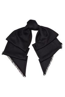 Черный платок с жаккардовым узором GG Gucci
