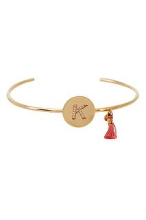 Золотистый браслет с буквой К Unique