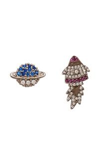 Асимметричные серьги с кристаллами Herald Percy