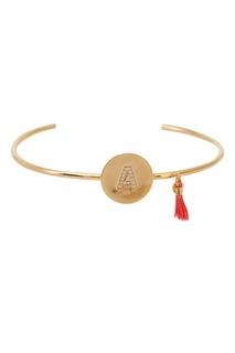 Золотистый браслет с буквой А Unique