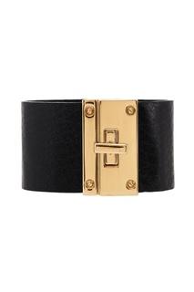 Кожаный браслет с золотистым замком Tannum
