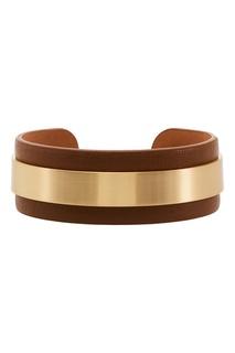 Кожаный браслет с металлическим декором Tannum