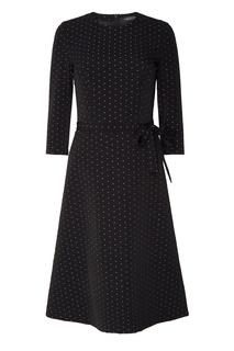 Черное платье с блестящим тканым узором Freshblood