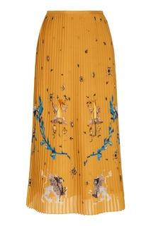 Плиссированная юбка с рисунком Alena Akhmadullina