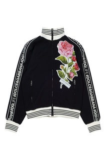 Черная олимпийка с нашивкой Dolce & Gabbana