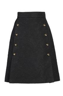 Черная юбка с пуговицами Dolce & Gabbana