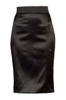 Черная юбка с широким поясом Dolce & Gabbana