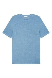 Голубая льняная футболка Sandro