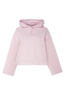 Розовое кроп-худи Acne Studios