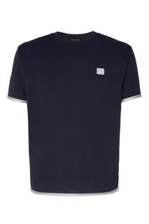 Темно-синяя футболка с контрастной отделкой Acne Studios