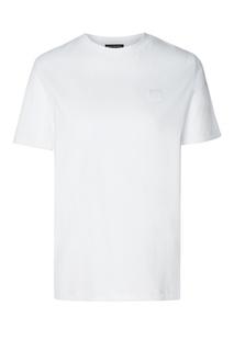 Белая хлопковая футболка с нашивкой Acne Studios