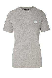 Серая меланжевая футболка с нашивкой Acne Studios