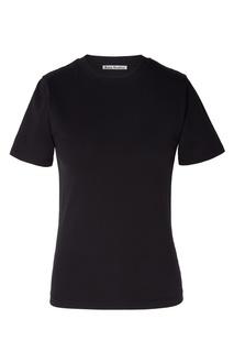 Черная футболка с вырезом под горло Acne Studios