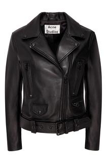 Байкерская куртка с отделкой тон-в-тон Acne Studios