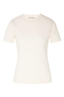 Светло-розовая хлопковая футболка Acne Studios