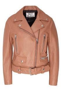 Терракотовая кожаная куртка Acne Studios