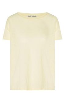 Льняная футболка лимонного цвета Acne Studios