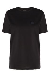Черная футболка с нашивкой Acne Studios