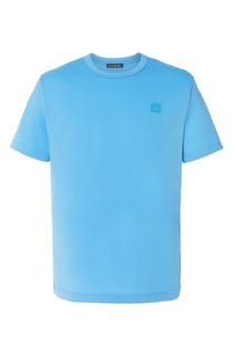 Голубая футболка с нашивкой Acne Studios