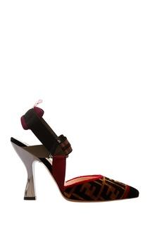 Туфли с фактурной отделкой Fendi
