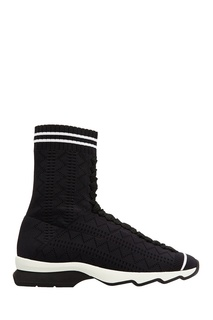 Текстильные ботинки со шнуровкой Fendi