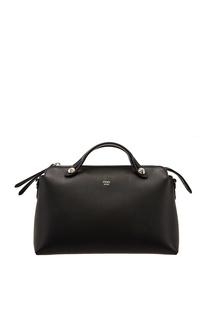 Кожаная черная сумка Fendi