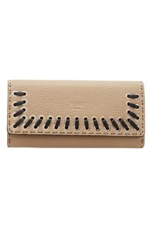 Кожаный кошелек с плетением Fendi