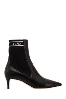 Черные ботильоны Fendi