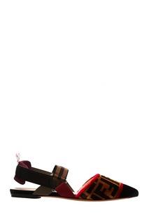 Туфли с текстильной отделкой Fendi