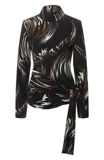Шелковая блузка с принтом Givenchy