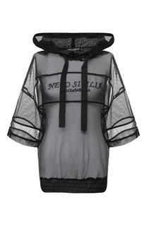 Пуловер в сетку с капюшоном Dolce & Gabbana