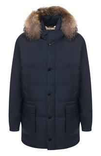 Пуховая куртка с капюшоном Loro Piana
