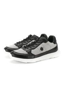 Комбинированные кроссовки B21 Runners на шнуровке Dior