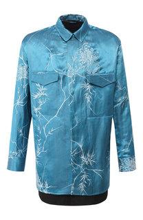 Рубашка из смеси льна и шелка Haider Ackermann