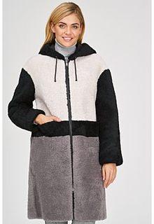 Трехцветная шуба из овчины Virtuale Fur Collection
