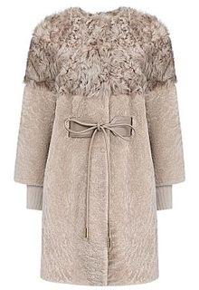 Жакет из овчины и меха козлика со съемными рукавами Virtuale Fur Collection