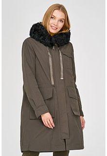 Утепленное пальто с отделкой мехом каракуля Acasta