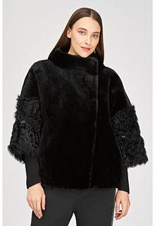 Жакет из овчины с отделкой овчиной калган Virtuale Fur Collection