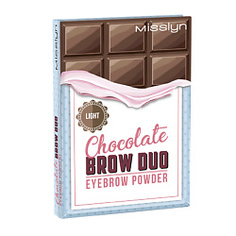 MISSLYN Палетка теней для бровей Chocolate № 2, 6 г