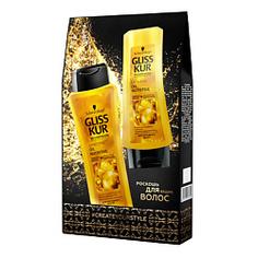 GLISS KUR Набор OIL NUTRITIVE Шампунь 250 мл + Бальзам для волос 200 мл