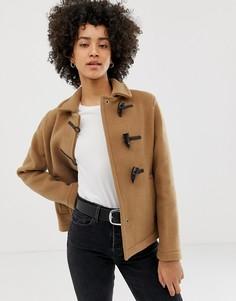 Короткое пальто с добавлением шерсти Gloverall - Рыжий
