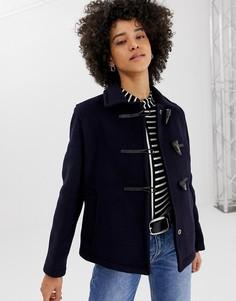 Короткое пальто с добавлением шерсти Gloverall - Темно-синий