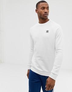 Белый свитшот с вышитым логотипом adidas Originals - Белый